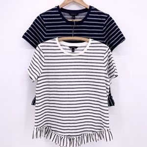 Banana Republic Stripe Tee Shirt Causal Womens Med